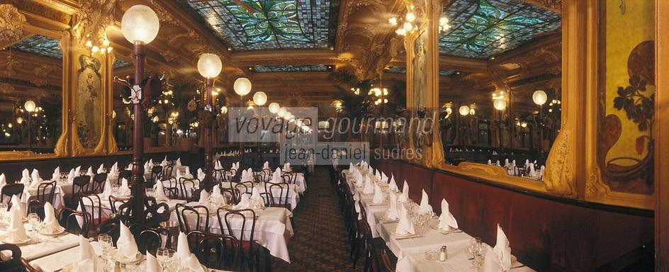 """Europe/France/Ile-de-France/Paris: """"BELLE-EPOQUE"""" - Brasserie """"Julien"""" 16 rue du Faubourg Saint-Denis<br /> PHOTO D'ARCHIVES // ARCHIVAL IMAGES<br /> FRANCE 1990"""