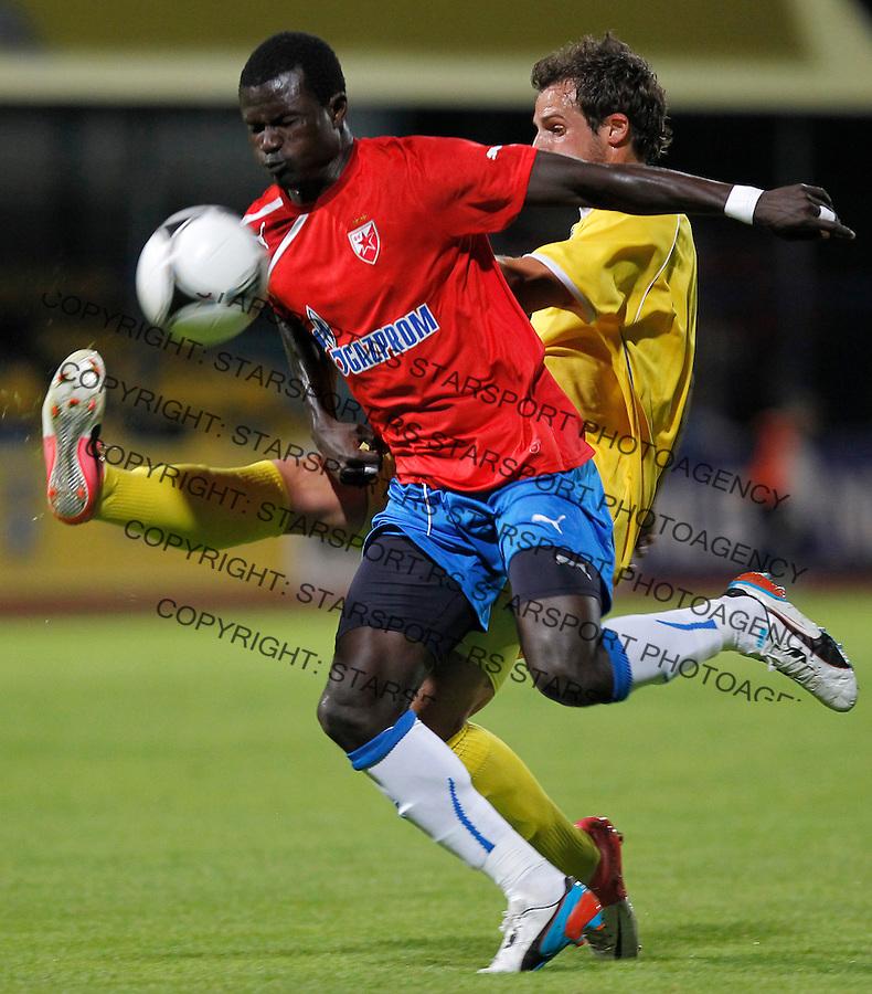 Fudbal season 2012-2013<br /> Domzale v Crvena Zvezda <br /> Prijateljski mec<br /> Abiola Dauda<br /> Domzale, 29.06.2013.<br /> foto: Srdjan Stevanovic/Starsportphoto &copy;