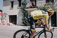 Chris Froome (GBR/SKY) turning into a tight corner<br /> <br /> 104th Tour de France 2017<br /> Stage 16 - Le Puy-en-Velay &rsaquo; Romans-sur-Is&egrave;re (165km)
