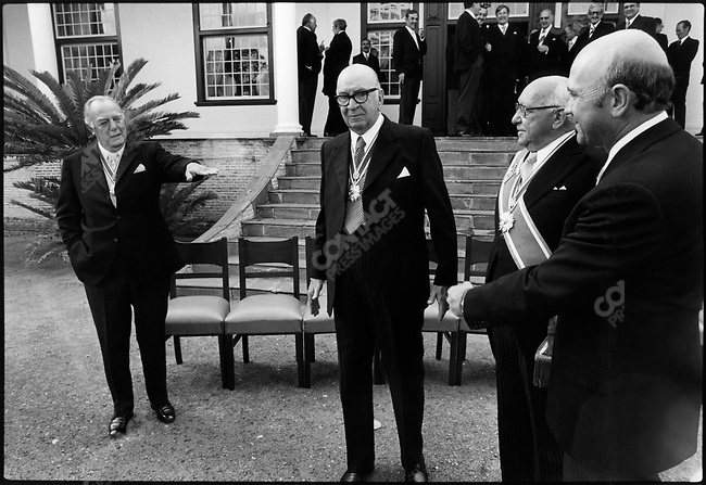 Swearing in new ministers. Capetown, South Africa, April 1978.