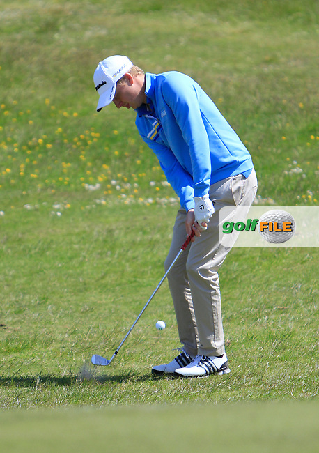 Simon Ward (Co. Louth)<br /> during the 4th round of the East of Ireland Amateur Open Championship 2013 Co Louth Golf club 3/6/13<br /> Picture:  Thos Caffrey / www.golffile.ie