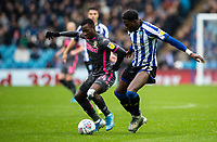 Leeds United's Edward Nketiah competing with Sheffield Wednesday's Dominic Iorfa (right) <br /> <br /> Photographer Andrew Kearns/CameraSport<br /> <br /> The EFL Sky Bet Championship - Sheffield Wednesday v Leeds United - Saturday 26th October 2019 - Hillsborough - Sheffield<br /> <br /> World Copyright © 2019 CameraSport. All rights reserved. 43 Linden Ave. Countesthorpe. Leicester. England. LE8 5PG - Tel: +44 (0) 116 277 4147 - admin@camerasport.com - www.camerasport.com