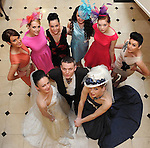 Models from the Norma O'Donoghue Modelling Agency  at the  'UNVEILED' wedding showcase and catwalk  fashion show at Killarney's Dromhall Hotel on Sunday. Front from left are  Norma O'Donoghue, Adrian O'Sullivan and Victoria Tynan. Back from left are Mags Kelleher,  Joanne O'Connor, Rieleen Weissels, Aoife Begley, Chloe Buckle and  Jennifer Lenihan. Picture: Eamonn Keogh (MacMonagle, Killarney)