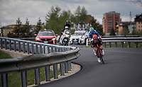 Race leader Matej Mohoric (SVK/UAE-Emirates) tucking in for speed<br /> <br /> Stage 17: Tirano › Canaze (219km)<br /> 100th Giro d'Italia 2017