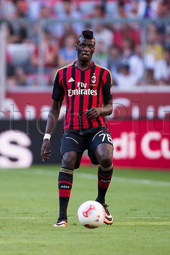 01.08.2013. Munich, Germany.  M'Baye Niang (Milan) Audi Cup 2013 match between AC Milan 1-0 Sao Paulo FC at Allianz Arena in Munich, Germany.