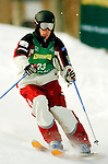 15 January 2005 - Lake Placid, New York, USA - Warren Tanner representing Canada, competes in the FIS World Cup Men's Moguls Freestyle ski competition, ranking 22nd for the day, at Whiteface Mountain, Lake Placid, NY. ..Mandatory Credit: Ed Wolfstein Photo.