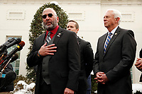 United States Representative Clay Higgins (Republican of Louisiana) speaks to reporters following a lunch at the White House with US President Donald J. Trump to discuss the government shutdown, in Washington, D.C., January 15, 2019.<br /> Credit: Martin H. Simon / CNP /MediaPunch