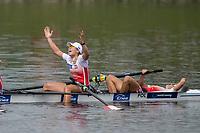 Sarasota. Florida USA.  Women's Quadruple final. Gold medalist, POL W4X.  Celebrate.  2017 World Rowing Championships, Nathan Benderson Park<br /> <br /> Saturday  30.09.17   <br /> <br /> [Mandatory Credit. Peter SPURRIER/Intersport Images].<br /> <br /> <br /> NIKON CORPORATION -  NIKON D4S  lens  VR 500mm f/4G IF-ED mm. 200 ISO 1/1250/sec. f 4