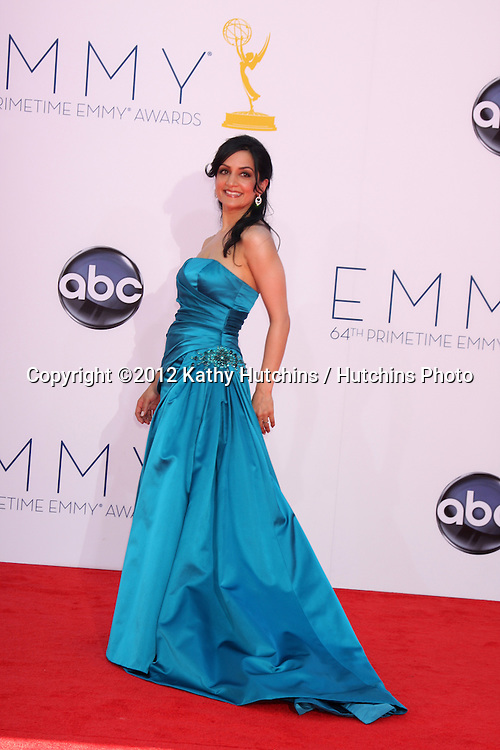 LOS ANGELES - SEP 23:  Archie Panjabi arrives at the 2012 Emmy Awards at Nokia Theater on September 23, 2012 in Los Angeles, CA