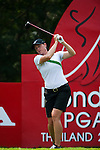 CHON BURI, THAILAND - FEBRUARY 16:  Katie Futcher of USA tees off on the 17th hole during day one of the LPGA Thailand at Siam Country Club on February 16, 2012 in Chon Buri, Thailand.  Photo by Victor Fraile / The Power of Sport Images