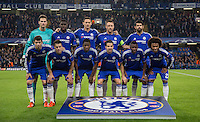 The Chelsea team line up for a pre match team photo during the UEFA Champions League Group G match between Chelsea and Dynamo Kyiv at Stamford Bridge, London, England on 4 November 2015. Photo by Andy Rowland.