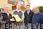 LIFE-SAVING: Residents of Brosna with one of the new defibrillators for the community, l-r: Noel Lane, Micheál Murphy, Dave O'Connell, Edmund Doran.