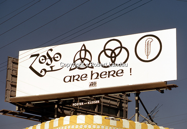 Led Zeppelin billboard over Whisky A Go Go