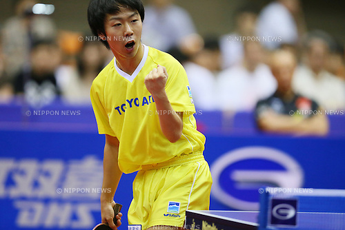 Masato Shiono (JPN), JUNE 23, 2013 - Table Tennis : 2013 ITTF World Tour Japan Open 2013 Men's Singles Final at Yokohama Cultural Gymnasium, Kanagawa, Japan. (Photo by Yusuke Nakanishi/AFLO SPORT)