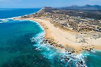 aerial view of Playa los Zacatitos, East Cape, near Los Cabos, Baja California, Mexico, Gulf of California, Sea of Cortez, Pacific Ocean