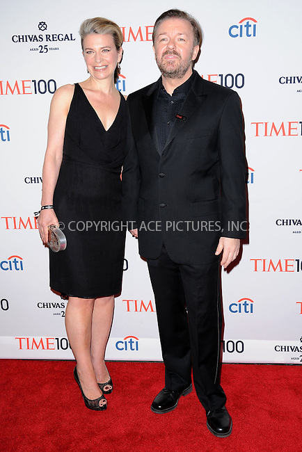 WWW.ACEPIXS.COM . . . . . .April 23, 2013...New York City....Jane Fallon and Ricky Gervais attend TIME 100 Gala, TIME'S 100 Most Influential People In The World at Jazz at Lincoln Center on April 23, 2013 in New York City ....Please byline: KRISTIN CALLAHAN - ACEPIXS.COM.. . . . . . ..Ace Pictures, Inc: ..tel: (212) 243 8787 or (646) 769 0430..e-mail: info@acepixs.com..web: http://www.acepixs.com .