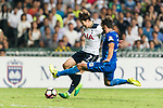 Tottenham Hotspur Forward Heung-Min Son (L) in action against SC Kitchee Defender Helio de Souza (R) during the Friendly match between Kitchee SC and Tottenham Hotspur FC at Hong Kong Stadium on May 26, 2017 in So Kon Po, Hong Kong. Photo by Man yuen Li  / Power Sport Images