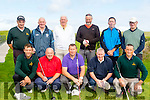 The Ring of Kerry Golf team who played Kenmore in the Dr Billy O'Sullivan cup semii final at Castlegregory golf club last Saturday morning were Front L-R toby Stebman (manager) Adrain McGurn, Cyirl O'Donoghue, George & Joe  Harrington, Mick & Pat O'Neill, Dan Sweeney, Martin Veldhoen, Finbar Kelleher and Tony O'Keeffe.