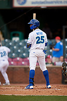 Lexington Legends right fielder Seuly Matias (25) at bat during a game against the Rome Braves on May 23, 2018 at Whitaker Bank Ballpark in Lexington, Kentucky.  Rome defeated Lexington 4-1.  (Mike Janes/Four Seam Images)