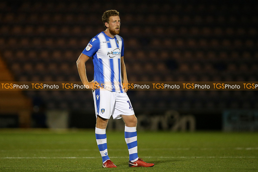 Tom Eastman of Colchester United during Colchester United vs Yeovil Town, Sky Bet EFL League 2 Football at the JobServe Community Stadium on 2nd October 2018