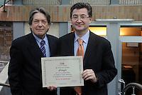 """COOP for Kyoto.."""" Risparmia le energie """" . Premiazione dei Fornitori di prodotto a marchio Coop che hanno avviato azioni volte a migliorare la propria efficienza energetica e a ridurre le emissioni di CO2.Dott. Silver Giorgini.Direttore Qualità - Orogel."""