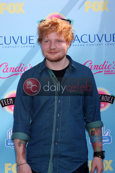 Ed Sheeran<br /> at the 2013 Teen Choice Awards Arrivals, Gibson Amphitheatre, Universal City, CA 08-11-13<br /> David Edwards/Dailyceleb.com 818-249-4998