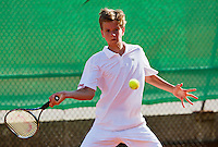 August 9, 2014, Netherlands, Rotterdam, TV Victoria, Tennis, National Junior Championships, NJK,  Alec Dekers (NED)  <br />