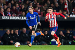 Peter Ankersen (L) of FC Copenhague is followed by Kevin Gameiro of Atletico de Madrid during the UEFA Europa League 2017-18 Round of 32 (2nd leg) match between Atletico de Madrid and FC Copenhague at Wanda Metropolitano  on February 22 2018 in Madrid, Spain. Photo by Diego Souto / Power Sport Images