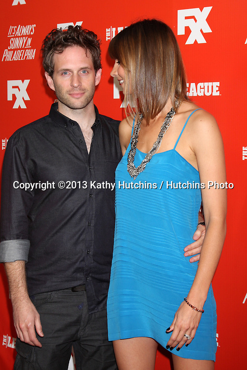 "LOS ANGELES - SEP 3:  Glenn Howerton, Jill Latiano at the FXX Network Launch Party And Premieres For ""It's Always Sunny In Philadelphia"" And ""The League"" at the Lure on September 3, 2013 in Los Angeles, CA"