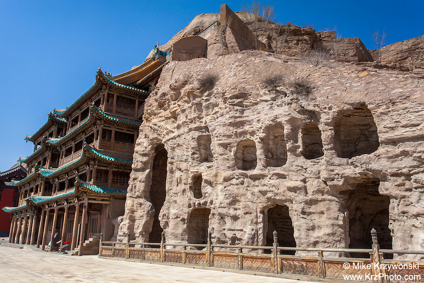 Temple at the Yungang Grottoes in Datong, China