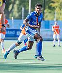 UTRECHT - Terrance Pieters (Kampong)   tijdens de hoofdklasse competitiewedstrijd mannen, Kampong-Bloemendaal (2-2) . ) . COPYRIGHT KOEN SUYK
