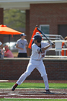 Buies Creek Astros infielder Stijn Van Der Meer (18) during a game against the Winston-Salem Dash at Jim Perry Stadium on the campus of Campbell University on April 9, 2017 in Buies Creek, North Carolina. Buies Creek defeated Winston-Salem 2-0. (Robert Gurganus/Four Seam Images)