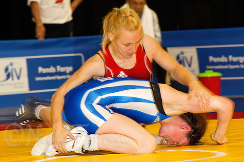 17 JUL 2010 - SHEFFIELD, GBR - Maryia Ivanova (BLR) (red) v Joanna Madyarchyk (GBR) (blue) - GB Cup .(PHOTO (C) NIGEL FARROW)