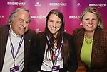 Stewart F. Lane, Leah Lane and Bonnie Comley during a panel for BroadwayHD and the future of capturing stage performances for New Musicals at New York Hilton Midtown on January 13, 2019 in New York City.