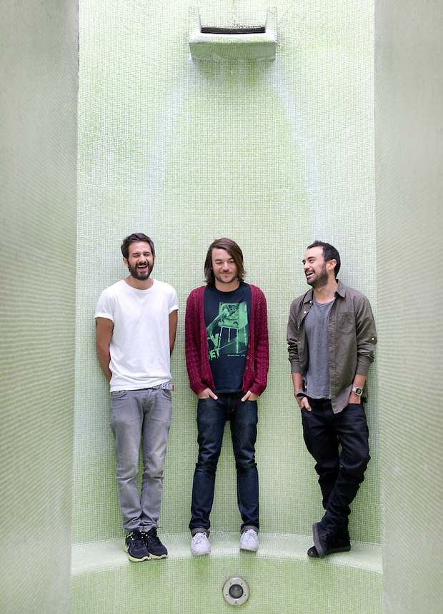 The band Disco Ruido:  Nariño Tierno, Julian Placencia and Peto at the Hotel Condesa DF, Condesa, Mexico City.