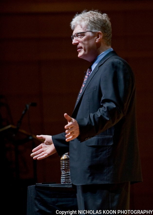 Sir Ken Robinson speaks at the Rene and Henry Segerstrom Concert Hall in Costa Mesa. 2011