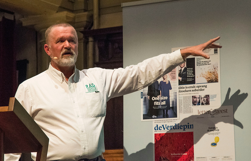 Nederland, Amsterdam, 20170322<br /> Debatreeks It's the Food, my friend in de Rode Hoed, met hoofdspreker Mark Shepard.