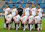 Germany, QF, Germany-Italy, Women's EURO 2009 in Finland, 09042009, Lahti Stadium. Back row from left: Annike Krahn, Ariane Hingst, Nadine Angerer, Birgit Prinz, Linda Bresonik. Front row from left: Bianca Schmidt, Babett Peter, Melanie Behringer, Inka Grings, Kim Kulig.