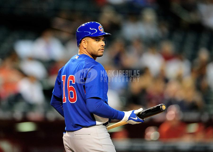 Apr. 2, 2010; Phoenix, AZ, USA; Chicago Cubs third baseman Aramis Ramirez against the Arizona Diamondbacks at Chase Field. Mandatory Credit: Mark J. Rebilas-