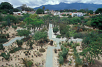 The ethnobotanical garden or Jardin Etnobotaniico behind the Mueum of Oaxacan Cultures, Oaxaca city, Mexico