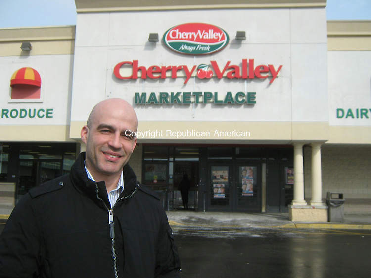 WATERBURY -- Mar. 14, 2014 -- 13_NEW_031414MDP01 -- Jose Almonte, general manager of Cherry Valley Marketplace, said it's renovating the former Compare Foods location in Colonial Plaza on Thomaston Avenue, and will continue to offer the Latino and other ethnic foods carried by its predecessor.