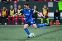 Seattle, Washington - Saturday May 14, 2016: Seattle Reign FC midfielder Keelin Winters (11) during the first half of a match at Memorial Stadium on Saturday May 14, 2016 in Seattle, Washington. The match ended in a 1-1 draw