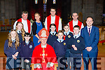 Pupils from Loughquittane NS with Bishop Ray Browne at their Confirmation in St Mary's Cathedral on Friday with John O'Donoghue, Alisa Coffey Fr Niall Howard, Fr Kieran O'Brien, and Fr Jim Lynch l-r: Lorna Looney, Katie O'Brien, Kate Lawlor, Eoghan Mulvaney, Hugh Murtagh and Padraig Kenny