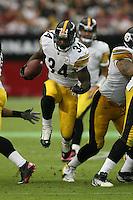 10/23/11 Glendale, AZ: Pittsburgh Steelers running back Rashard Mendenhall #34 during an NFL game played at University of Phoenix Stadium between the Arizona Cardinals and the Pittsburgh Steelers. The Steelers defeated the Cardinals 32-20.