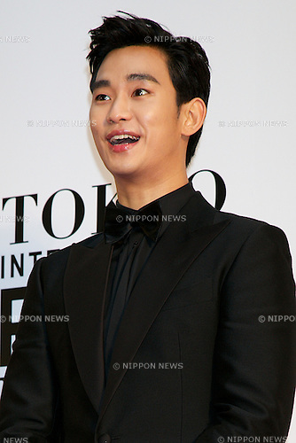 Soo Hyum Kim, October 23 2014, Tokyo, Japan: The actor Soo Hyum Kim poses for the cameras at the 27th Tokyo International Film Festival, Opening Event Red Carpet at Roppongi Hills Arena in Tokyo, Japan, October 23, 2014. This year the Prime Minister Shinzo Abe attends the opening ceremony. The Film Festival will run through until Friday 31. (Photo by Rodrigo Reyes Marin/AFLO)
