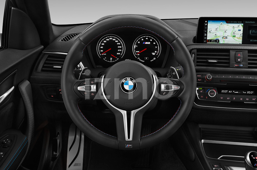 Car pictures of steering wheel view of a 2019 BMW m2 competition Base 2 Door Coupe