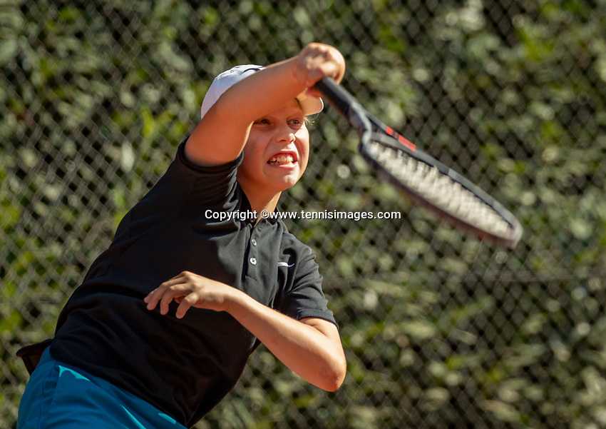 Hilversum, Netherlands, Juli 29, 2019, Tulip Tennis center, National Junior Tennis Championships 12 and 14 years, NJK, Daniel Blaauwwijk (NED)<br /> Photo: Tennisimages/Henk Koster