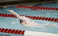 NWA Democrat-Gazette/CHARLIE KAIJO Bentonville's Zane Sutton swims the 200 yard individual medley during a swim meet, Saturday, February 9, 2019 at the University of Arkansas HYPER pool in Fayetteville.