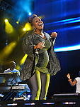 """Trecina """"Tina"""" Atkins-Campbell of Mary Mary performs at the 2012 Essence Music Festival on July 7, 2012 in New Orleans, Louisiana at the Louisiana Superdome."""