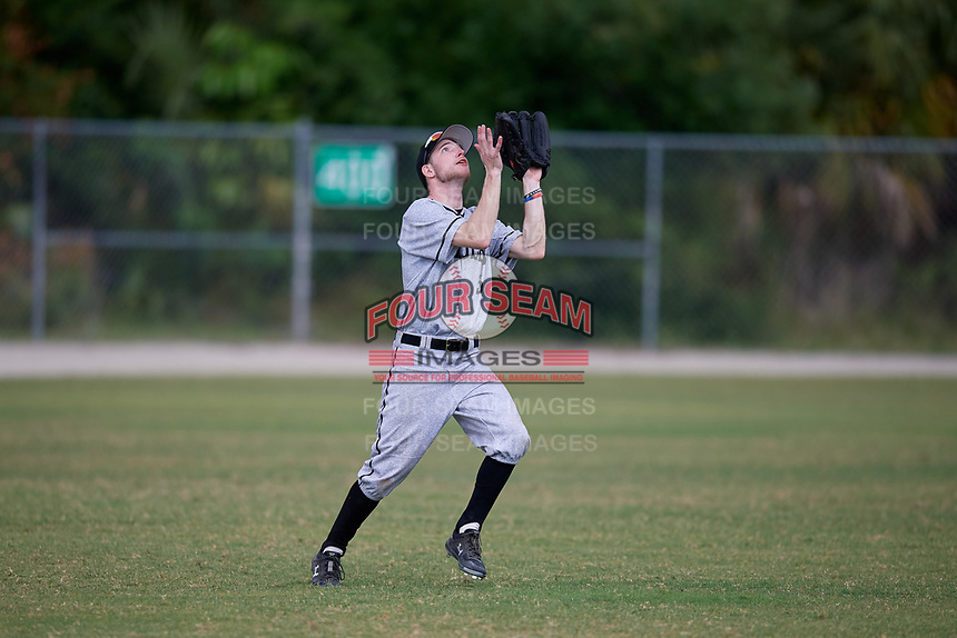 Edgewood Eagles left fielder Ryan Cassady (5) during the second game of a double header against the Bethel Wildcats on March 15, 2019 at Terry Park in Fort Myers, Florida.  Bethel defeated Edgewood 3-2.  (Mike Janes/Four Seam Images)